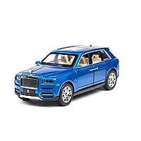 1:24ロールスロイスカリナン車モデル金属モデル車合金ダイカスト車子供のおもちゃギフトグッズ (Color : Blue, Size : A)