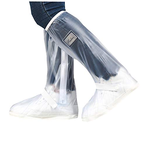 DSTong Overshoes Rain Boots Waterproof Anti-Snow Shoe Covers Reusable Rain Boots Protective Gear for Men and Women Galoshes(Transparent, S)
