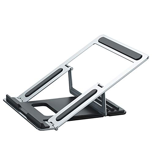 YUY Laptop Stand, Adjustable Laptop Riser With Heat-Vent,Universal Lightweight And Adjustable Ergonomic Tray Mount Compatible,Silver