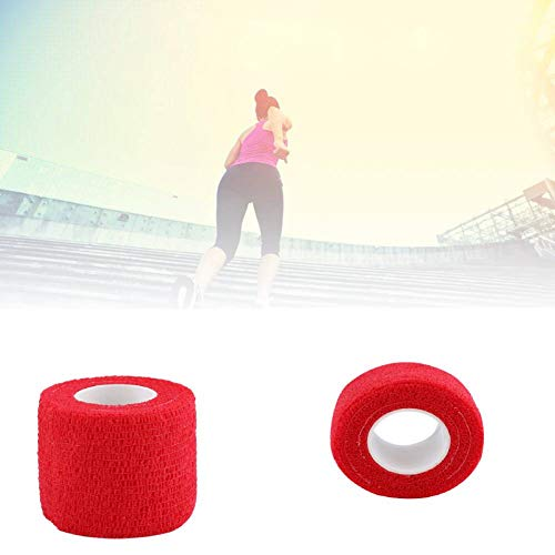 lahomie Elastische Selbstklebende Bandage,5 Rollen/Set Wasserdicht Selbstklebendes Pflaster Fingergelenke Wrap Sport Pflege(rot)