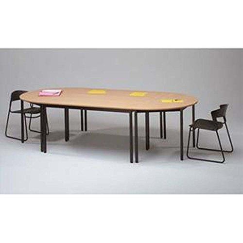 Table polyvalente demi-rond diamètre 120 cm hêtre/noir