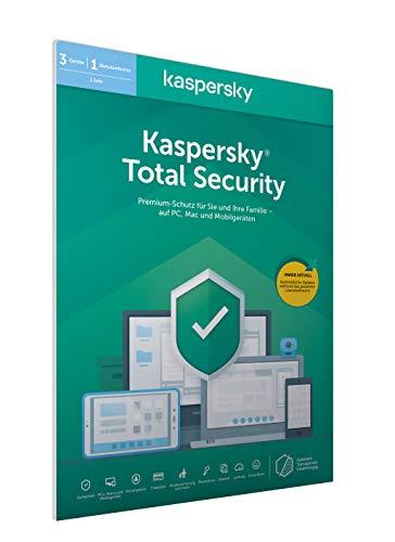 Kaspersky Total Security 2020 Standard | 3 Geräte | 1 Jahr | Windows/Mac/Android | Aktivierungscode in frustfreier Verpackung
