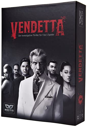 Vendetta - Krimi Spiel Escape Room Spiel für 1-5 Personen - Noctis Verlag Krimispiel Tatort Escape Game für Erwachsene Rätselspiel Detektiv Escap Crime Fall