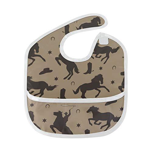 N\A Bavoir pour bébé Art American Wild West Desert Cowboy bébé bavoirs d'alimentation pour garçons tache douce alimentation bébé Dribble Drool bavoirs Burp pour bébé 6-24 mois