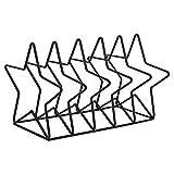 Estante de Almacenamiento de Discos de Vinilo, Metal Simple, líneas únicas, Soporte para Libros, Escritorio, decoración, Estante, Pentagrama, Dorado (Color: Dorado) AA