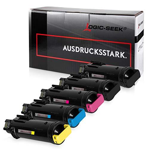 5 Logic-Seek Toner kompatibel mit Xerox Phaser 6510DN 6510DNI 6510N 6510 WorkCentre 6515DN 6515DNI 6515N