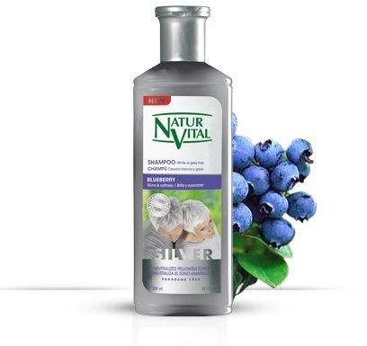 Natur Vital Henna Shampoo for White and Gray Hair -...