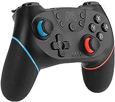 Switch Controller, Bluetooth Nintendo Switch Controller mit Doppelmotor, Turbo Funktion und 6 Achsen Gyrosko, Wireless...