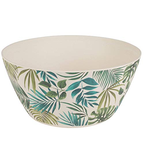 Cambridge CM06076 Large Reusable Polynesia Serving Bowl, 25 cm, Dishwasher Safe, BPA Free, Bamboo Fiber Mix, 0.35Kg