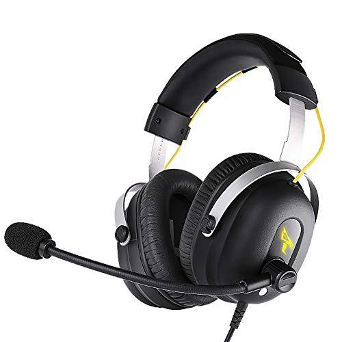 Auriculares inalámbricos de alta gama alta sobre oído, tiempo de juego con bajos profundos, orejeras de proteína de memoria suave, Modo incorporado Modo por cable PC / Teléfonos celulares / TV (Color:
