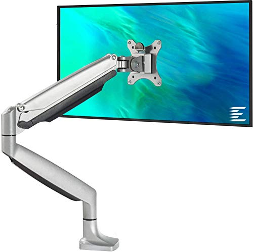 EleTab Single Monitor Arm Stand Full Motion Height Adjustable Monitor Desk Mount Fits for Computer Screen 13 to 34 inches, Hold up to 19.8 lbs