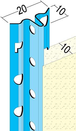 PROTEKTOR 1106, Putzlehre, Putzstärke 6 mm / 10 mm, 2,50 m, Bund = 50 Stäbe, Stahl verzinkt, silbergrau