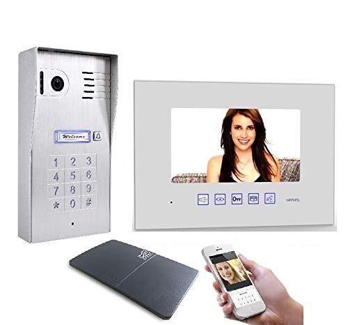 4 Draht Video Türsprechanlage Gegensprechanlage 7'' Monitor WLAN Schnittstelle