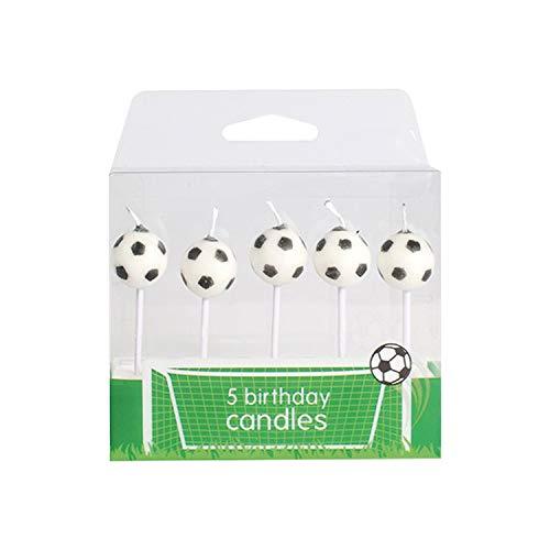 6 Fussball Kerzen   Kuchenkerzen   Geburtstagskerzen