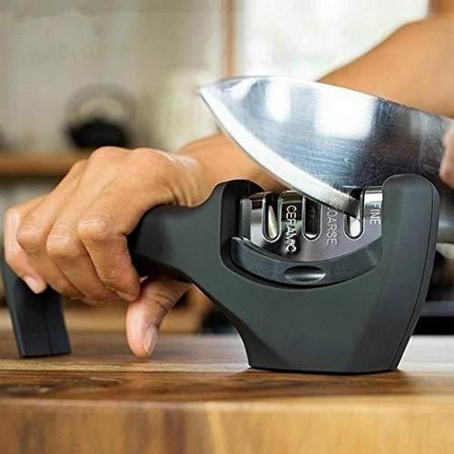 ROCONAT Afilador de Cuchillos Profesional Cocina Piedra de afilar Piedra de afilar Cuchillos Amoladora Afiladores manuales