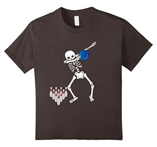 Kids Cool Dabbing Skeleton Bowling T Shirt Dab Hip Hop Bowler Tee 12 Asphalt