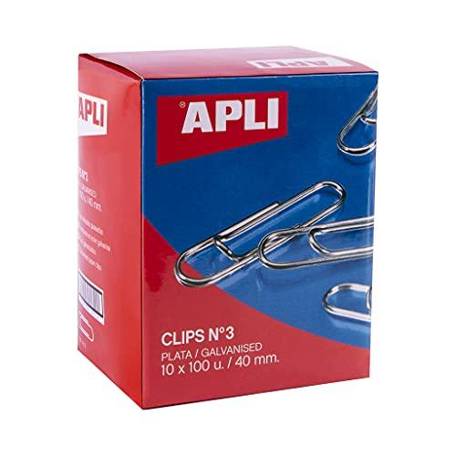 APLI 18992 - Pack de clips galvanizados nº3 40 mm - 1000 u.
