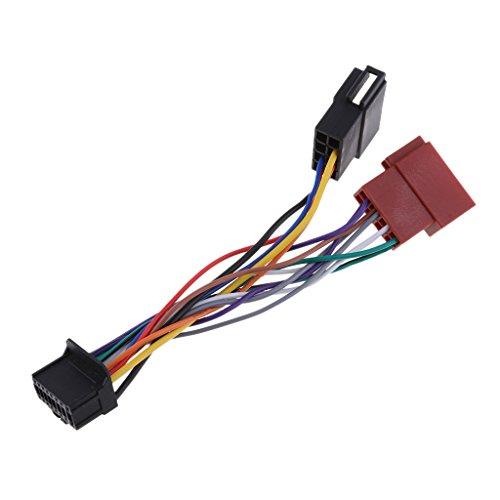 B Blesiya Cable de Arnés de Cable del Reemplazo del Receptor de Radio de La Hembra de 16pin ISO para El Pionero - 16 Pernos ISO Hembra,170 * 30 * 30mm