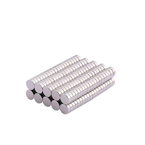Round Refrigerator Magnets, 200PCS 5×2MM Small Cylinder Fridge Magnets, Office Magnets, Whiteboard Magnets, Durable Mini Magnets - Come with a Storage Case
