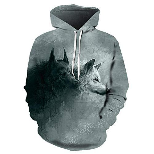 Loup Imprimé Hoodies Hommes 3D Hoodies Sweat Garçons Vestes Qualité Pull Mode Survêtements Animal Streetwear Out Manteau-Lim204_S