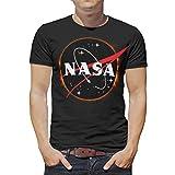 NASA Solar Eclipse Premium calidad Jersey Script Camiseta para hombres y mujeres Blanco blanco 50