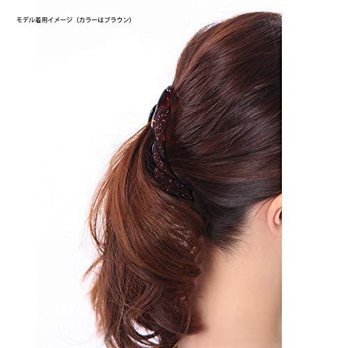 ボナバンチュール(Bonaventure)煌くラメウィングモチーフバナナクリップレディースヘアアクセサリーヘアクリップバンスクリップ人気ブランド髪留めa20131h6(ブラウン)