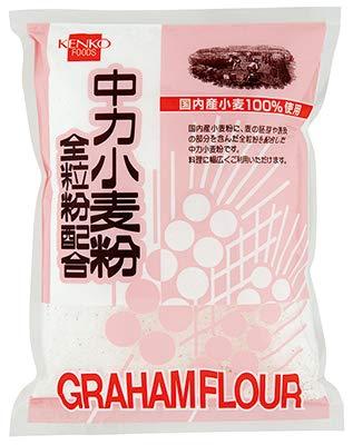 健康フーズの中力小麦粉全粒粉配合500g×4個          JAN: 4973044039960