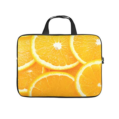 WDFVGEE Summer Fruit Orange Slice - Bolsa para portátil (neopreno, antiarañazos, para estudiantes, 13 pulgadas), color blanco