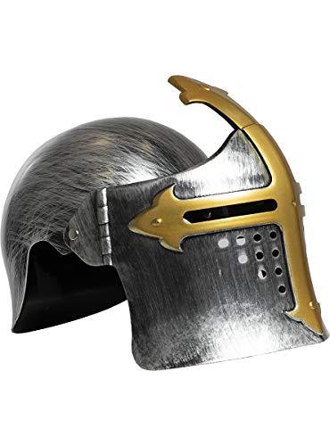 Funidelia | Casco Medieval para niño y niña ▶ Medieval, Edad Media, Caballero - Color: Dorado, Accesorio para Disfraz - Divertidos Disfraces y complementos