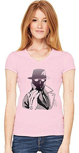 Graphic Q Illustration T-shirt col V de la femme Small