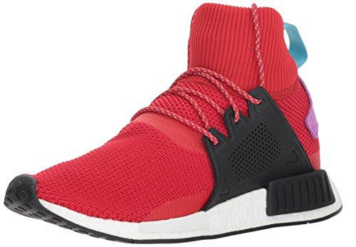 adidas Originals Men's NMD_XR1 Winter Running Shoe, Scarlet/Black/Shock Purple, 11 M US