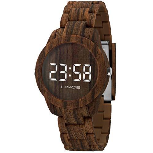 Relógio Lince Feminino Ref: Mdp4614p Bxnx Digital LED Marrom