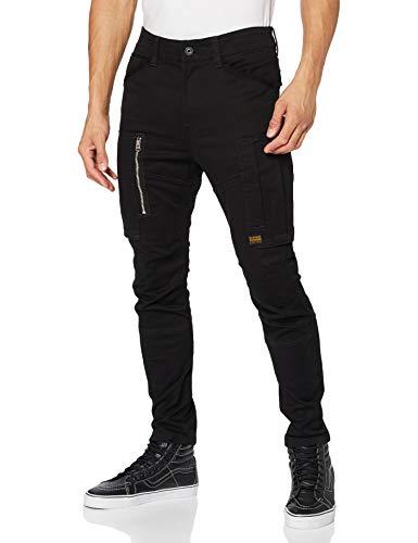 G-STAR RAW Mens Flight Cargo 3D Skinny Casual Pants, dk Black C105-6484, 31W / 32L