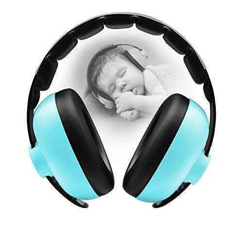 BBTKCARE Gehörschutz Kinder Kopfhörer mit Geräuschunterdrückung für Babys für 3 Monate bis 2 Jahre (bläuliches grün)