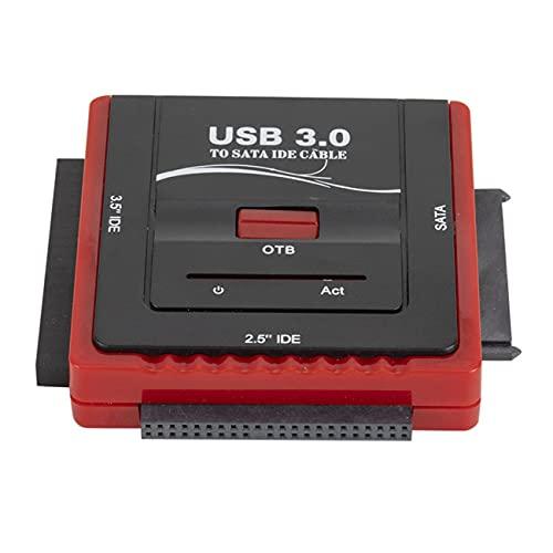 RIWPKFH Adaptador SATA a USB IDE USB 3.0 SATA 2,5 3,5 pulgadas disco duro HDD SSD USB convertidor IDE SATA a USB SATA cable adaptador