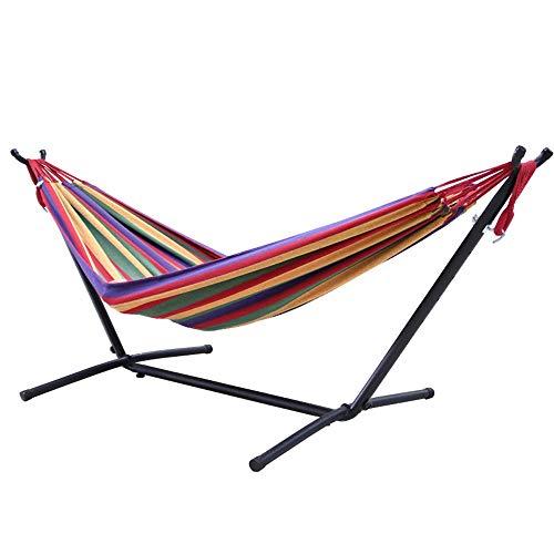 YXWJ Hamac Support amovible Assemblée Fer portable étagère extérieur Balcon intérieur Swing Swing Support suspendu 200x150cm Chaise support (Color : UNE)