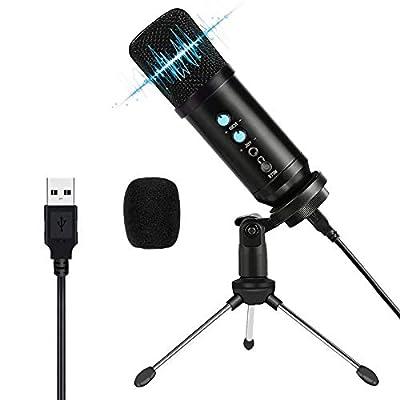 Amazon - Save 50%: USB Microphone,Belita Amy Condenser Microphone Plug &Play Desktop Podc…