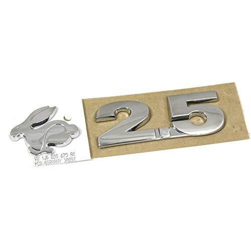 Original Golf 5 Rabbit 2.5 Schriftzug hinten Heckklappe Emblem chrom (US Version)