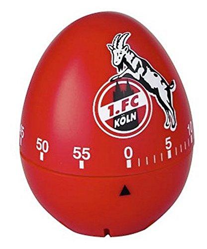 Brauns 1. FC Köln Eieruhr, weiss-rot, 30135