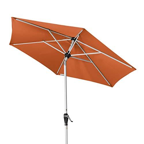 Doppler Active Auto Tilt 210 – Kurbel Sonnenschirm ideal für den Balkon – Regenabweisend – ca. 210 cm – Terra Cotta