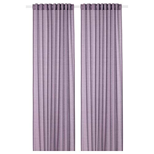IKEA ASIA HILJA Curtains 1 Pair Lilac (57.1x98.4 inch) 145x250