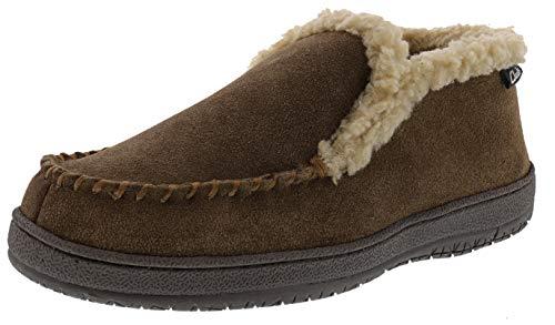 Clarks Men's Andrew Indoor Outdoor Faux Fur Slippers (9 M US, Sage Suede)