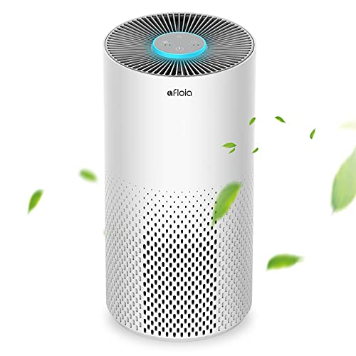 Afloia Purificateur d'Air Maison avec Véritable Filtre HEPA 99.97% Filtration, Veilleuse 7...
