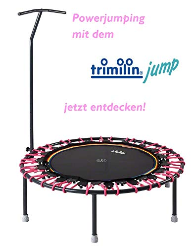 Trimilin Trampolin Jump 111 Plus incl. Haltestange (schwarz/pink)