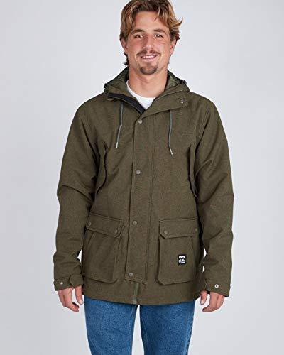 G.S.M. Europe - Billabong Herren Alves 10K Jacket Jacke Mit Kapuze, Military Heather, S