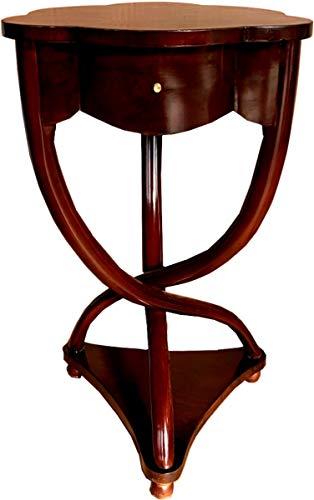 Casa Padrino Biedermeier Beistelltisch Mahagoni Braun mit Schublade H 70 x 45 x 45 cm