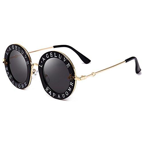 Retro ronde zonnebril voor mannen vrouwen matel frame zonnebril Unisex zonnebril bij Zonnebril Letter Designer Eyewear Leuke zonnebril vintage zonnebril Travel Steampunk zonnebril
