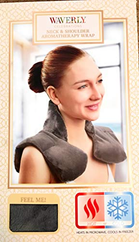 Microwaveable Aromatherapy Neck and Shoulder Wrap Cools in Freezer