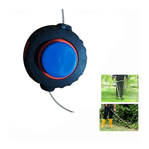 Iusun Lawn Mower Weed Trimmer Head Universal Plastic Height 60mm Nylon Rope Grass Strimmer Fitting Sharpener Power Lawnmower for Garden Grass Never Damage Trees (Black)