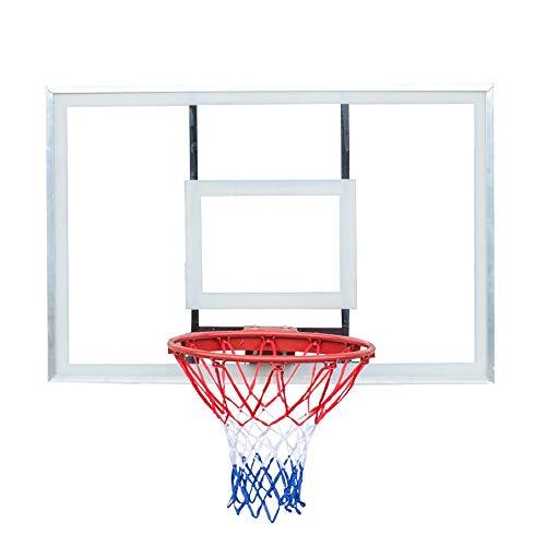 XZYB-lqj Songmin Aro De Baloncesto Tablero De Gran Tamaño Al Aire Libre Montaje En La Pared Soporte Y Kit De Fijación El 120 X 80cm Sistema de Baloncesto (Color : Solid)